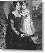 Duchess Of Kent & Victoria Metal Print