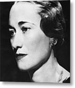Duchess Of Windsor Wallis Simpson Metal Print