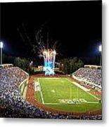 Duke Fireworks At A Packed Wallace Wade Stadium Metal Print