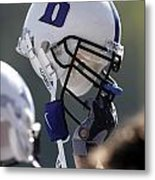 Duke Football Helmet Metal Print by Duke University