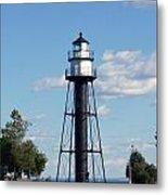 Duluth Mn Bridge Lighthouse Metal Print