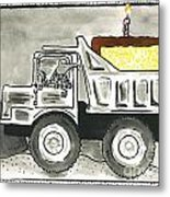 Dump Truck Birthday Metal Print
