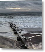 Dune Beach Winter Metal Print