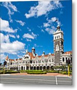 Dunedin Railway Station During A Sunny Day  Metal Print