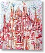 Duomo City Of Milan In Italy Portrait Metal Print