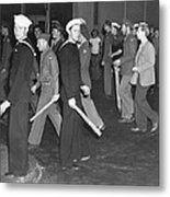 During Zoot Suit Riot, Los Angeles Metal Print by Everett