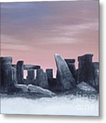 Dusk On The Winter Solstice At Stonehenge 1877 Metal Print