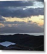 Dusk Panorama Of Skye Metal Print