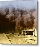 Dust Storm, 1930s Metal Print by Omikron