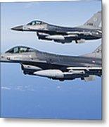 Dutch F-16ams During A Combat Air Metal Print