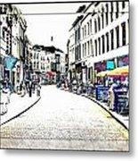Dutch Shopping Street- Digital Art Metal Print