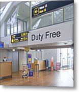 Duty Free Shop At An Airport Metal Print