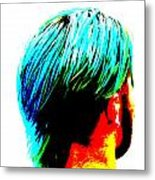 Dyed Hair Man Metal Print