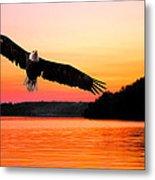Eagle At Break Of Dawn Metal Print