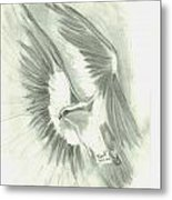 Eagle Flying High Metal Print