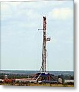 Eagle Ford Drilling Metal Print