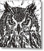 Eagle Owl Metal Print by Julia Forsyth