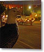 Eagle Watching Grants Pass Night Metal Print