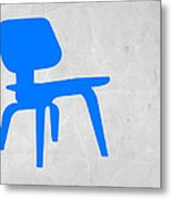 Eames Blue Chair Metal Print by Naxart Studio
