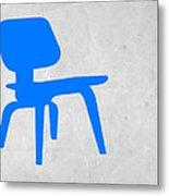 Eames Blue Chair Metal Print