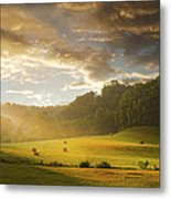 Early Am Fog And Stormey Light Metal Print