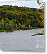 Early Autumn Shoreline Metal Print