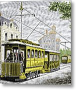 Early Electric Tram Metal Print