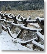 Early Fall Snow Metal Print