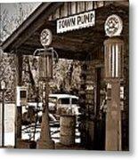 Early Gas Station Metal Print by Douglas Barnett
