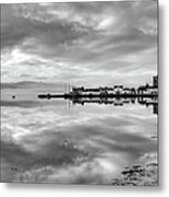 Early Morning At Inverary Black And White Version Metal Print