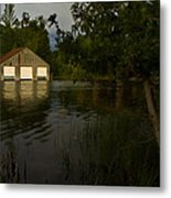 Early Morning Clam Lake Channel Metal Print