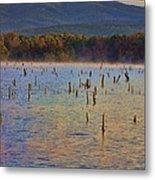 Early Morning Color Of Lake Wilhelmina-arkansas Metal Print