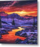 Early Morning Frost Metal Print by David Lloyd Glover