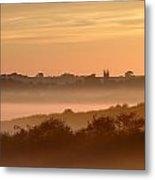 Early Morning Mist, Bradworthy, North Metal Print