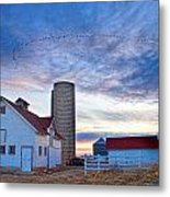 Early Morning On The Farm Metal Print