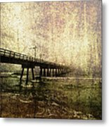 Early Morning Pier Metal Print by Skip Nall