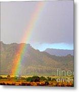 Early Morning Rainbow At Sleeping Giant Mountain Metal Print