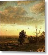 Early Morning Sunrise On The Praires Metal Print