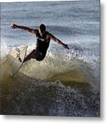 Early Morning Surfing Metal Print
