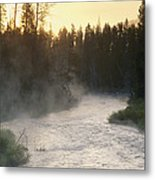 Early Morning View Of Crescent Creek Metal Print