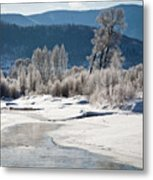 Early Morning, Yampa River, Steamboat Springs Metal Print