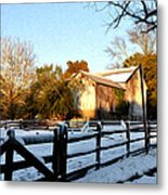 Early Snow Day Metal Print