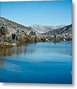 Early Snow In Vermont Metal Print by Edward Fielding
