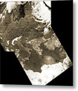 Early Weather Satellite Images Metal Print