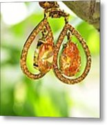 Earrings Metal Print