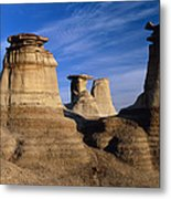 Earth Pillars (hoodoos) In Alberta Badlands Canada Metal Print