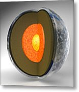 Earth's Internal Structure Metal Print