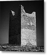 Easkey Castle Roslea Roslee Odowds County Sligo Metal Print