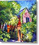 East Bay House In Charleston  Metal Print