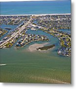 East Coast Aerial Metal Print